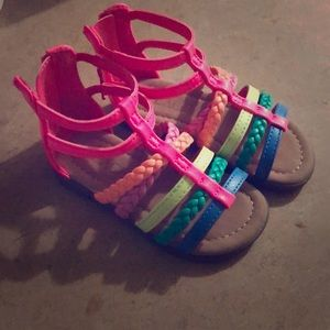 3 pair of toddler sandals.